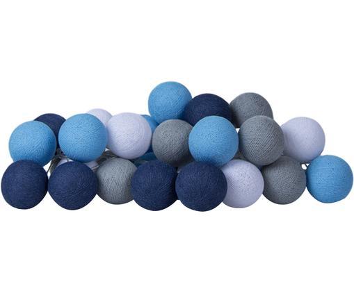 LED Lichterkette Colorain, Lampions: Polyester, Blautöne, Grau, Weiß, L 354 cm