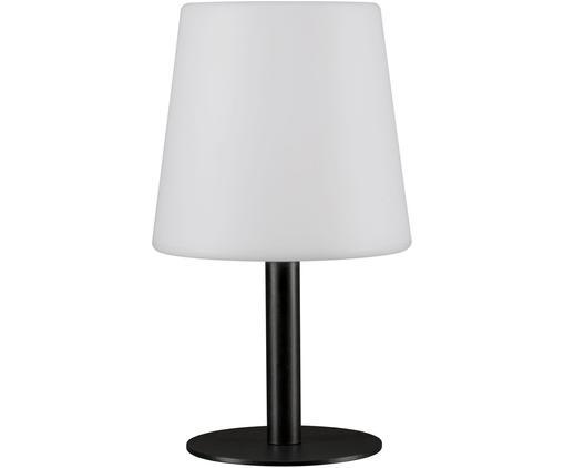 Lampe à poser d'extérieur LED mobile Placido, Blanc, noir