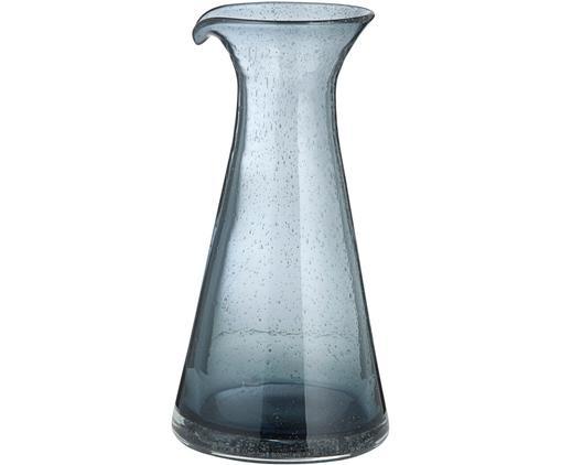 Mundgeblasene Karaffe Bubble, Glas, Transparent, Grau, 800 ml