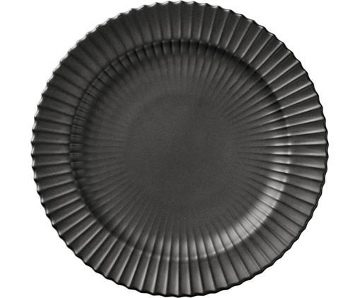 Piatto da colazione The Lyngby Plate, Porcellana, Nero opaco, Ø 20 x A 2 cm