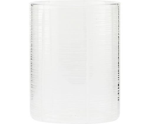 Vaso e portacandela 2in1 Ramona, Vetro, Trasparente, Ø 9 x Alt. 12 cm
