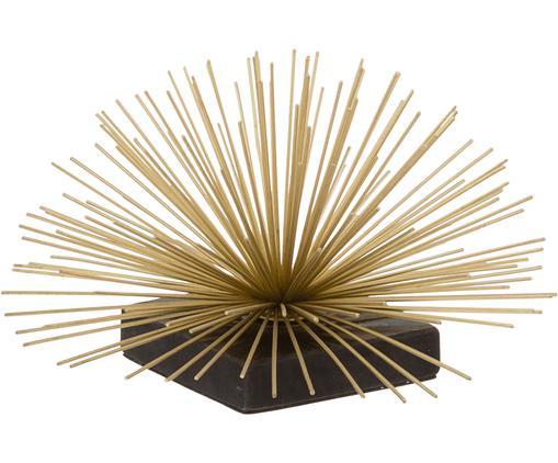 Dekoracja Marburch, Nogi: marmur, Nasada: odcienie złotego<br>Podstawa: czarny marmur, Ø 21 x W 13 cm