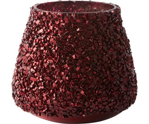 Portavelas Anolia, Vidrio, Rojo oscuro, Ø 9 x Al 8 cm