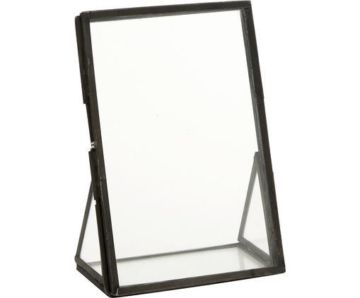 Bilderrahmen Mamun, Rahmen: Metall, beschichtet, Front: Glas, Schwarz, Transparent, 10 x 15 cm