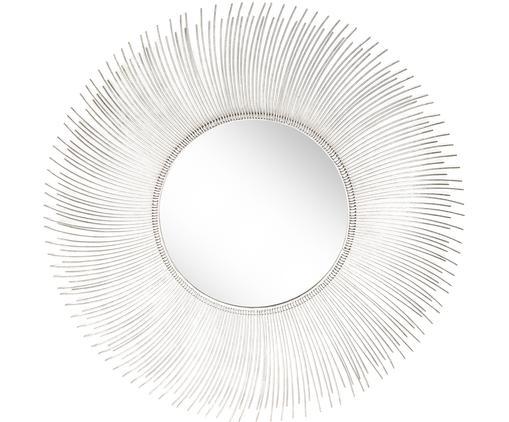 Specchio da parete con cornice Lilly, Cornice: metallo, Superficie dello specchio: lastra di vetro, Argento, Ø 90 cm
