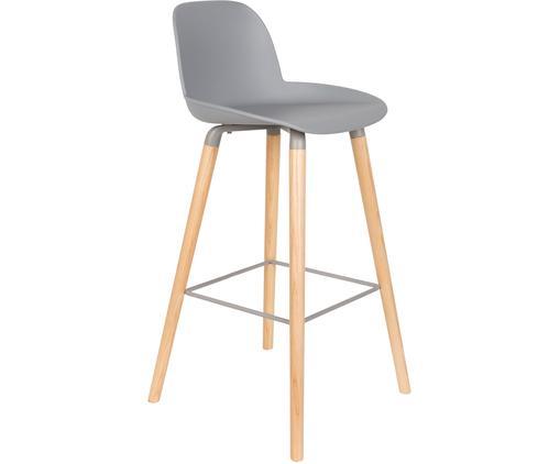 Chaise de barAlbert Kuip, Assise: gris clair Pieds: frêne Cadre et repose-pieds: gris
