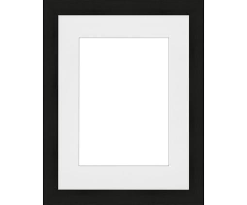 Bilderrahmen Apollon, Rahmen: Monterey-Kiefernholz, lac, Front: Glas, Rückseite: Mitteldichte Holzfaserpla, Schwarz, 10 x 15 cm