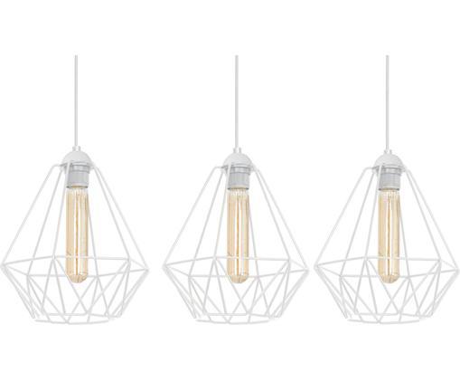 Lampa wisząca Basket, Nikiel lakierowany, Biały, S 60 x W 29 cm