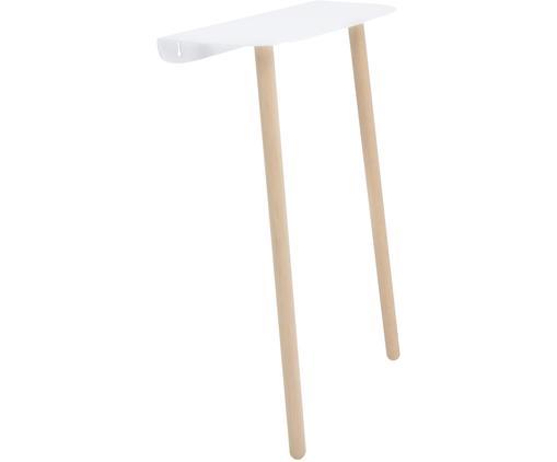 Konsola ścienna scandi Please, Nogi: drewno jesionowe, masywne, Biały, S 45 x G 22 cm