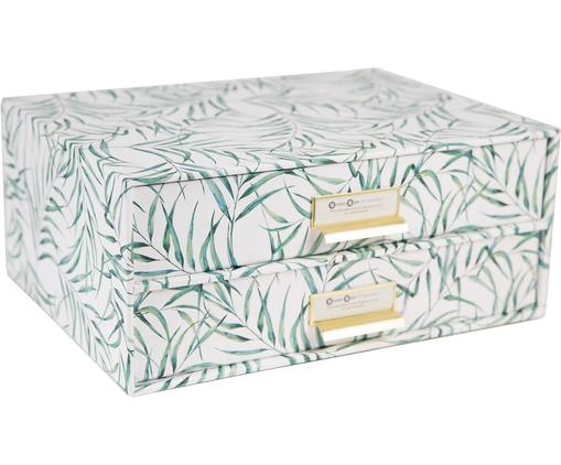 Organizer da ufficio Breeze, Manico: metallo, Bianco, verde, Larg. 33 x Alt. 15 cm