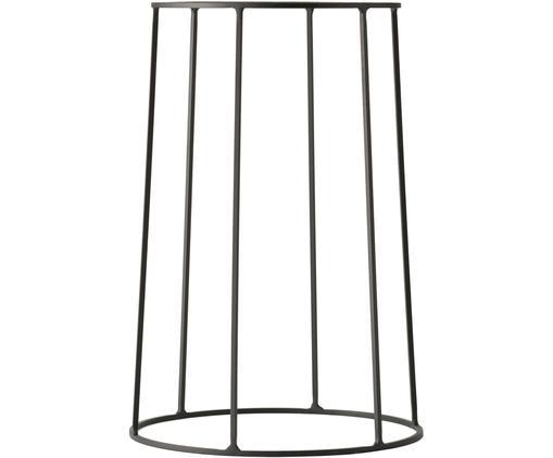 Pflanztopfständer Wire Base, Stahl, pulverbeschichtet, Schwarz, Ø 23 x H 40 cm