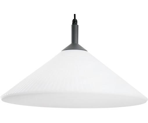 Zewnętrzna lampa wisząca Hue, Biały, czarny, Ø 58 x W 30 cm
