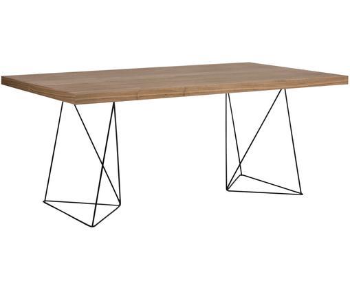 Stół do jadalni Max, Drewno orzecha włoskiego, czarny