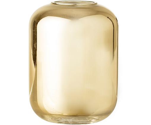 Wazon XS Karla, Szkło lakierowane, Odcienie złotego, Ø 8 x W 10 cm
