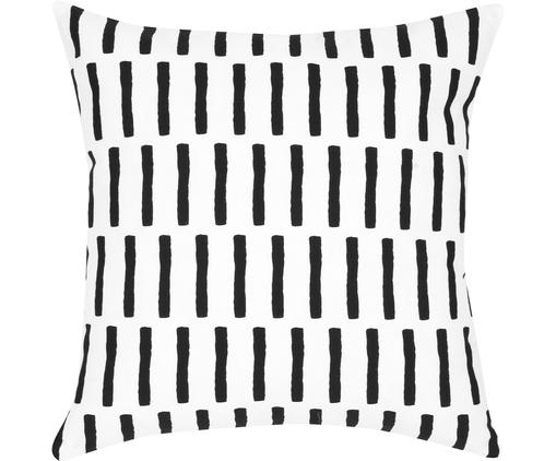 Kissenhülle Jerry in Schwarz/Weiß, Baumwolle, Schwarz, Weiß, 40 x 40 cm