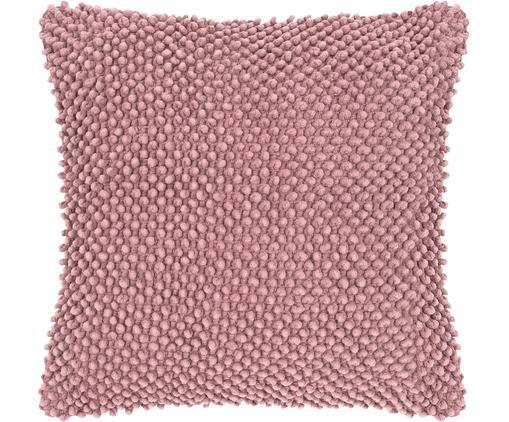 Kissenhülle Indi mit strukturierter Oberfläche, Baumwolle, Altrosa, 45 x 45 cm