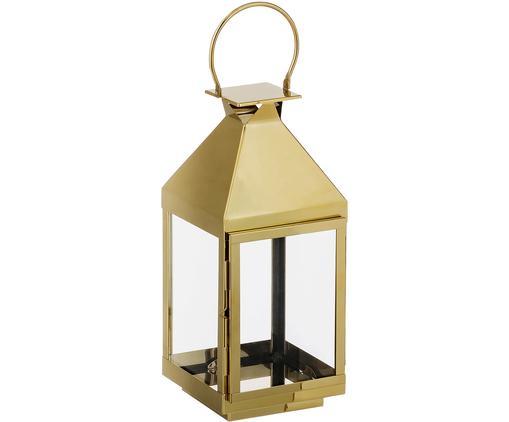Laterne Grace, Hochglanzpolierter Edelstahl, Glas, Goldfarben, hochglanzpoliert, H 50 cm