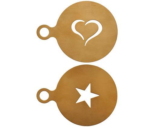 Komplet szablonów do Cappuccino Gold, 2 elem., Stal szlachetna, powlekana, Odcienie mosiądzu, Ø 10 cm