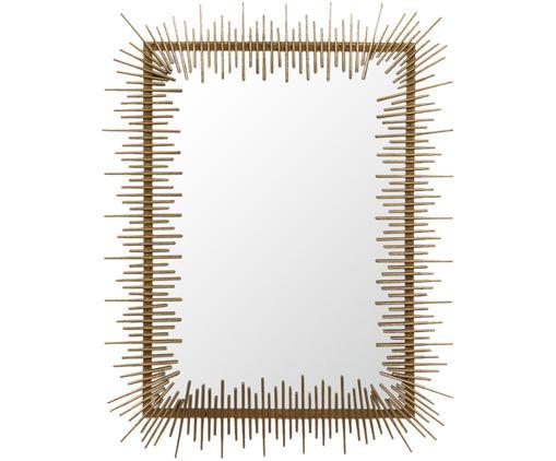 Specchio da parete Sticks, Cornice: ottone, Superficie dello specchio: lastra di vetro, Ottone, L 69 x A 90 cm