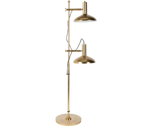 Lampada da terra Karish, Base della lampada: ottone Paralume: ottone, bianco