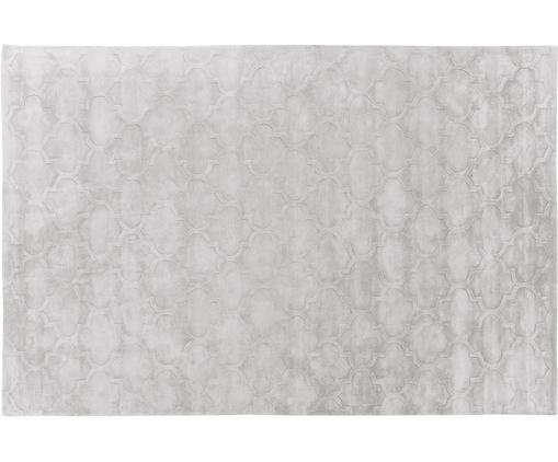 Alfombra artesanal de viscosa Magali, Parte superior: 100%viscosa, Reverso: 100%algodón, Gris claro, An 200 x L 300 cm (Tamaño L)