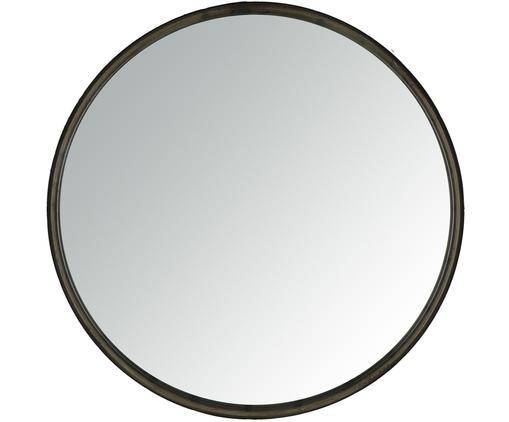 Runder Wandspiegel Boudoir mit schwarzem Rahmen, Rahmen: Metall, beschichtet, Spiegelfläche: Spiegelglas, Schwarz, Ø 40 cm
