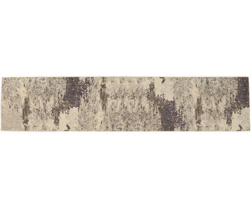Alfombra de diseño Celestial, Parte superior: polipropileno, Reverso: yute, Tonos beige, An 65 x L 230 cm