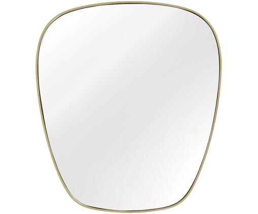Ovaler Wandspiegel Antje mit mattem Goldrahmen, Rahmen: Metall, vernickelt, Spiegelfläche: Spiegelglas, Rückseite: Mitteldichte Holzfaserpla, Goldfarben, matt, 65 x 75 cm