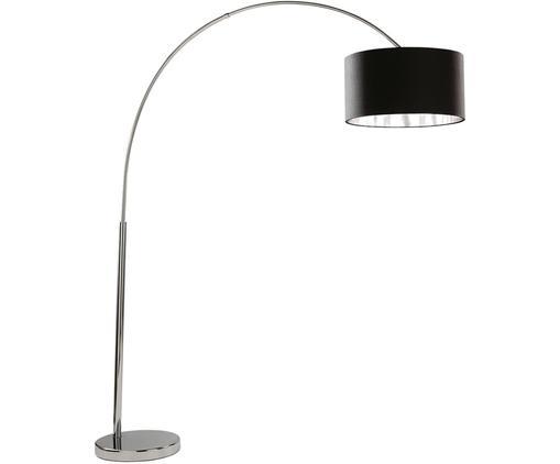 Lampa podłogowa w kształcie łuku Arc, Czarny, chrom, Ø 45 x W 200 cm