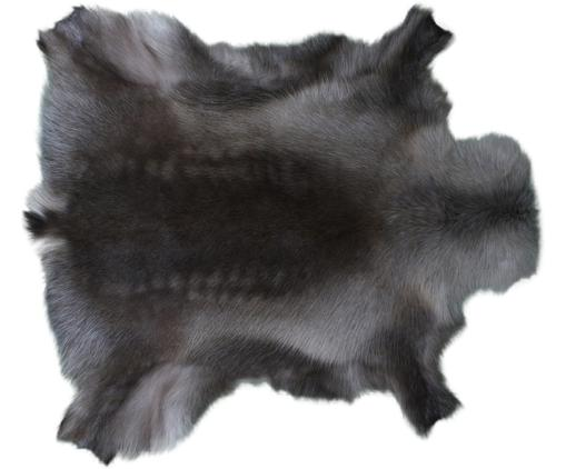 Tappeto in pelle di renna Berndo, Pelle di renna, Marrone scuro, Pelle di renna unica 232