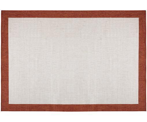 Dwustronny dywan zewnętrzny i wewnętrzny Panama, Terakota, kremowy, S 200 x D 290 cm