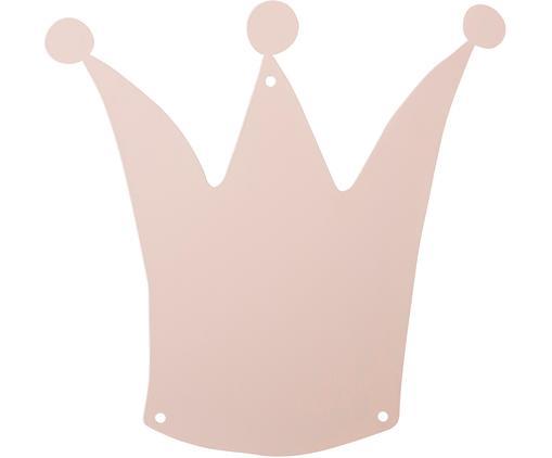 Magnetwand Crown, Metall, lackiert, Rosa, 33 x 33 cm