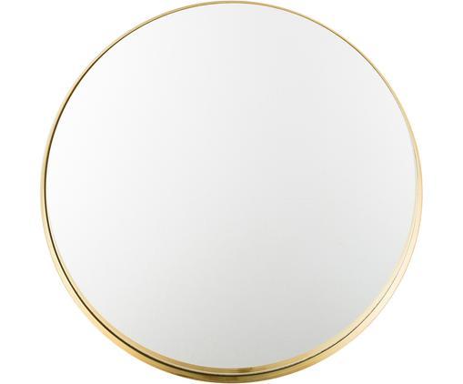 Miroir mural rond avec cadre doré Metal, Cadre: couleur dorée Verre miroir