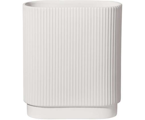 Vaso Art Deco, Porcellana, Bianco, Larg. 17 x Alt. 20 cm