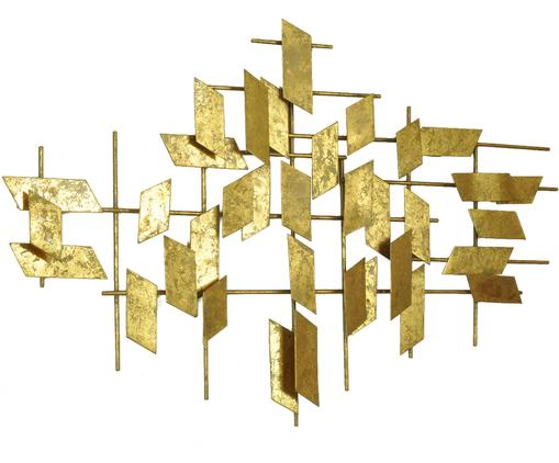 Decoración de pared grandeTara, Metal, Dorado, An 95 x Al 60 cm