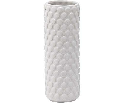 Vaso in terracotta Bubble, Terracotta, Bianco, Ø 6 x Alt. 17 cm