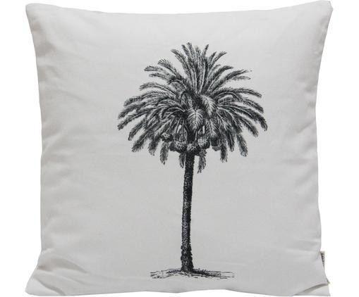 Poszewka na poduszkę La Palma, Bawełna, Biały, czarny, S 45 x D 45 cm