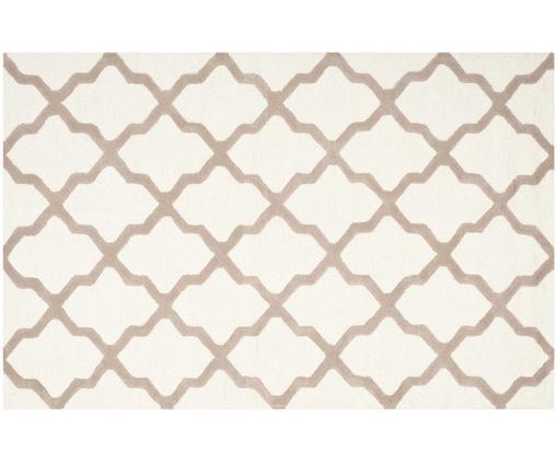 Handgetufteter Woll-Teppich Apsara, Flor: 100% Wolle, Beige, 182 x 274 cm