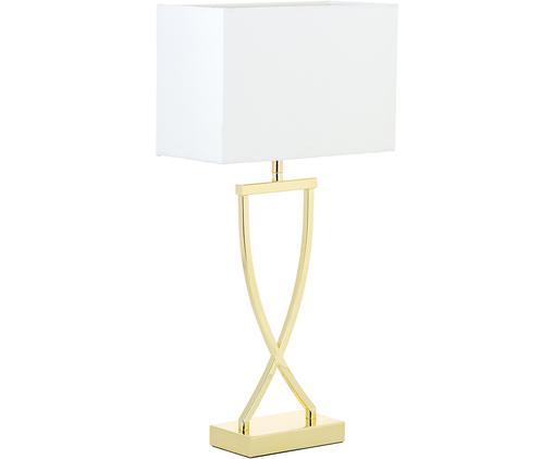 Lámpara de mesa Vanessa, Pantalla: tela, Dorado, An 27 x Al 52 cm