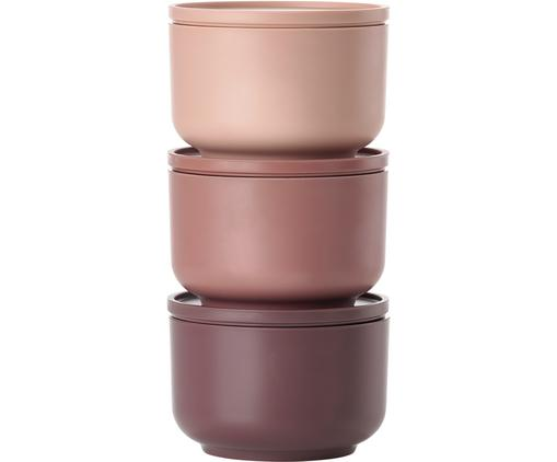 Mini set scatole custodia Peili, 3 pz., Melamina, Pallido rosa (nude), Ø 9 x A 6 cm