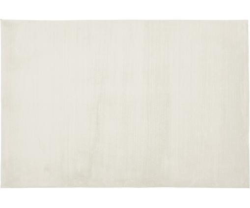 Tappeto a pelo lungo morbido Rabea, Retro: 70% poliestere, 30% coton, Bianco crema, Larg. 120 x Lung. 180 cm (taglia S)