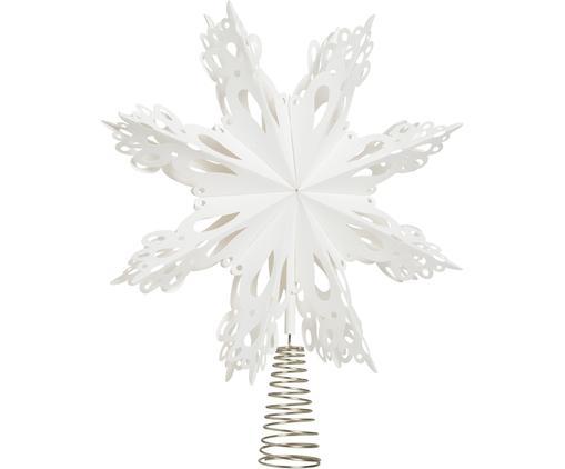 Baumspitze Christmas Star, Papier, Metall, Weiß, Metall, Ø 30 cm