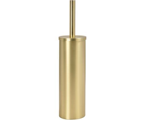 Toiletborstel Onyar met houder van edelstaal, Houder: gecoat edelstaal, Messingkleurig, Ø 9 x H 41 cm