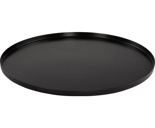 Tablett Tolne, Aluminium, beschichtet, Schwarz, Ø 50 cm