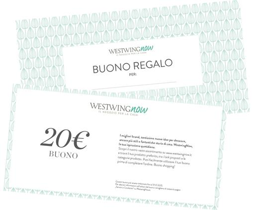 Buono regalo, Coupon stampato su carta di alta qualità e con busta propria, Bianco, 20