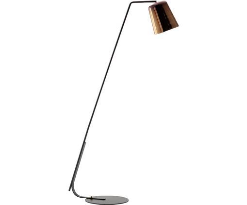 Stehlampe Anina, Metall, Schwarz, Messingfarben, 103 x 171 cm
