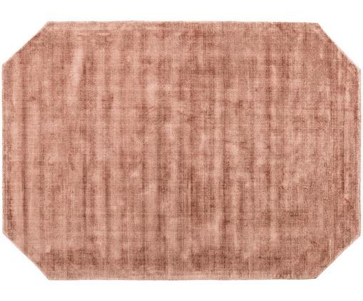 Handgewebter Viskoseteppich Jane Diamond, Flor: 100% Viskose, Terrakotta, B 160 x L 230 cm (Größe M)