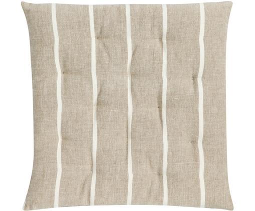 Cuscino sedia Even, Beige, bianco spezzato, Larg. 40 x Lung. 40 cm