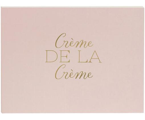 Gästebuch Crème de la Crème, Rosa, Goldfarben, 23 x 18 cm