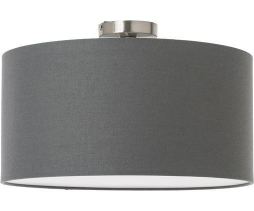 Deckenleuchte Basixx aus Leinen, Lampenschirm: Leinen, Anthrazit, Ø 50 x H 35 cm